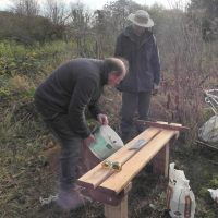 Ver Valley Society 40th Anniversary Bench Installation