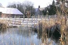 Redbournbury Ford & Farm In The January 2004 Winter Snow - Alan Bull